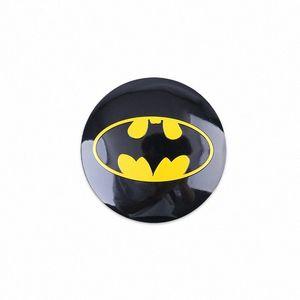 4PCS / الكثير 56MM باتمان سبائك الألومنيوم عجلات سيارة مركز محور قبعات ملصق Emblemn السيارات المعدلة لBMW نيسان أوبل MG السيارات التصميم لؤي #