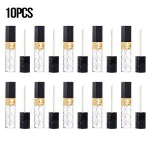 10 PC / porción 5ml Vacío Lip Gloss Lip Glaze tubos transparentes botellas de bricolaje cosméticos Embalaje Botellas envase retornable Maquillaje Herramienta