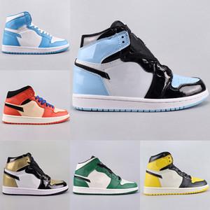 AIR SnakeaskinИорданияРетро 1 Желтый Черный Мужчины Баскетбол обувь Высокое качество 1S OG игры Royal Blue Белый Черный Мужские Спортивные кроссовки