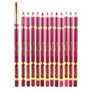 12 ألوان التجميل الشفاه بطانة خاص التسمية الخاصة النباتية الشفاه اينر قلم رصاص عارية اللون ماتي أحمر الشفاه القلم سيدة التجميل الشفاه بطانة للماء