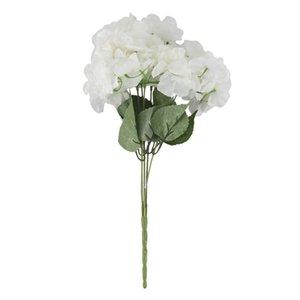 """Lber Artificial Hydrangea Flower 5 Big Heads Bouquet (diâmetro 7"""" cada cabeça) cremoso branco"""