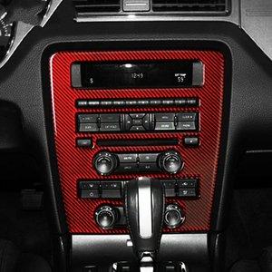 스티커 Ford Mustang 2009-2013 트림 커버 스티커 몰딩 컨트롤 데코레이션 자동 CD NHVCF 용 중앙 내부 탄소 섬유 패널