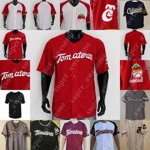 Mexicali Tomateros de Culiacan Jersey Charros de Jalisco Aguacateros de Michoacan Baseball Jerseys All Stiched Blank NO NAME Red White