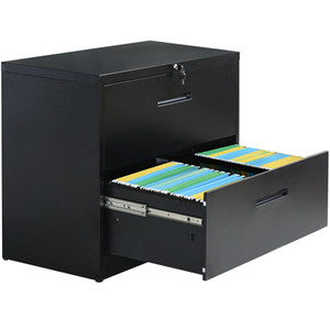 Trexm Bloccabile Busy Duty Duty File Laterale Cabinet in metallo 2 Cassetto Cabinetto Cabinet nero 2 cassetti WF192106BAA
