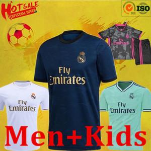 19 20 21 R M Jerseys Short Home Thiny Thiny Soccer Kit Dazon Zidane Benzema Chemise de football Camiseta de Futbol Men Enfants Ensemble