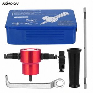 KKMOON doppelköpfigen Blech Knabber Cutter 360 Grad justierbarer Bohraufsatz Elektrowerkzeug-Zubehör Schneidwerkzeuge AY1J #