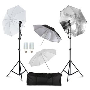 Fotografia de Estúdio Kits Reflective Umbrella Luz do guarda-chuva suave tripé Light Bulb Photo Studio Fotográfico Set Equipamento