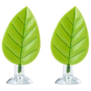 2 pack Betta Amaca, Betta Pesce Foglia Pad, Plastic piante d'acquario con ventosa