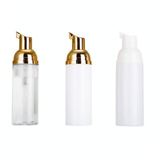 زجاجات 60ML السفر رغوي فارغة زجاجات البلاستيك رغوة مع مضخة الذهب غسل اليد الصابون موس كريم موزع محتدما زجاجة EWD870