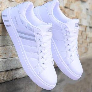 2019 printemps nouvelles chaussures de sport d'hommes # 39s chaussures hommes Tendance conseil respirant # 39s blanc
