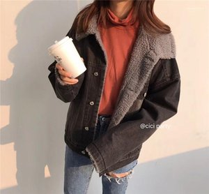 Lamb Wool Thick Warm Fleece Coats Casual Women Loose Coat Women Winter Designer Coat Fashion Faux