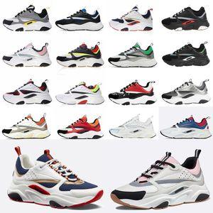 Dior B22 Sneaker Erkek Tasarımcı Ayakkabı bağbozumu Sneakers Tuval Ve Dana derisi Eğitmenler Lüks Unisex Düşük En Casual Ayakkabı 20color Büyük boy 35-4 Pbzo #