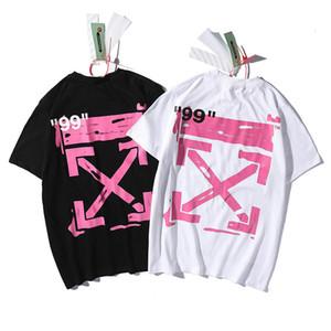 OFF Nuovo OW splash-ink graffiti Freccia stampa hip-hop via di tendenza della camicia paio di base gli uomini della T-shirt a maniche corte EYXH Uomo