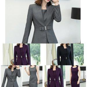 novo terno formal moda OL temperamento 2019 Outono vestido formal primavera vestido de mulher gYfPX Wfg5e Negócios e Suit
