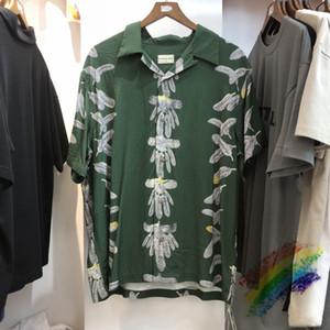 Shirt di alta qualità Uomini Donne 1 streetwear stile Hawaii Camicie Beach Tees