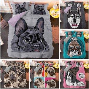 Tamaño de la historieta del barro amasado duvet cover set 3D lindo perro Beding Set 2 / 3pcs Individual Twin Queen Cama extragrande envío de la gota de cama de lujo