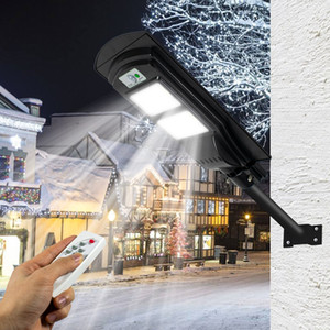 Seguridad 250W / 680W LED Solar Street Lights iluminación al aire libre lámpara de pared de sensor externo impermeable radar de control de luz de control remoto Lámparas