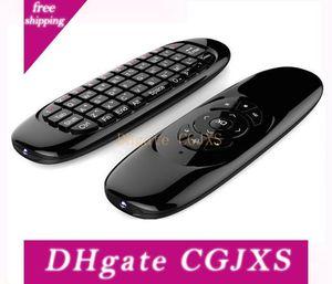 Giroscópio Fly Air Mouse C120 Jogo Wireless Keyboard Android remoto Teclado Controlador recarregável para Smart TV Mini Pc