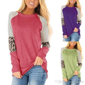 Striped T shirts Spring Autumn Fashion Tops Long Sleeved T shirt Women Casual