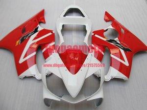 100% injection bodywork white red fairing for HONDA CBR600 F4I 01 02 03 CBR 600F4i 01 02 03 fairings kit cbr 600 f4i 2001 2002 2003