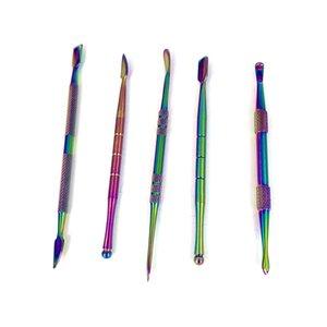 Kuru ot Buharlaştırıcı Kalem silikon mat kavanoz aracı için yüksek kaliteli paslanmaz çelik kurulamak aracı Buhar Wax gör dabber Renkli dabbing Araçları