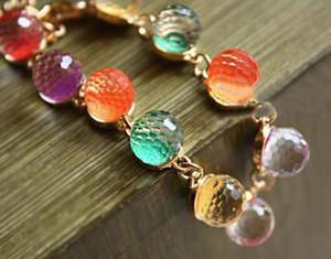 Bracelet Bangle por Mulheres Retro Beads ouro pulseira de cristais pulseira jóias para mulheres Braceletes