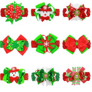 Kinder-Haarnadel Christmas Santa 4.5cm Bögen Spangen mit Stirnbänder Art und Weise Karikatur Haarspange + Stirnband Dual-Use-Haarschmuck D82805