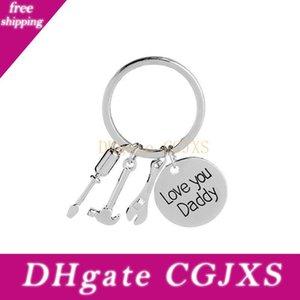 Love You Papa English Lettre Design Keychain anneau en métal classique clé pour les meilleurs cadeaux Fête des pères clés Charms 3 6xd Z