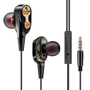 QKZ CK8 7D HiFi in-Ear Earphone Wired Dual Dynamaic loudspeaker Driver Super Bass Stereo For iphone samsung 100pcs