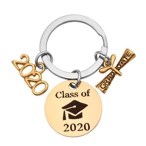 Class 2020 Graduation Cap Diploma Gift Keychain Graduate Key Chain Graduation Ceremony Gift Keying Pendant Jewelry For Student