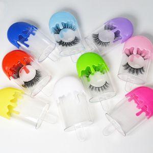 3D Mink Wimpern Freier Raum Paket Boxen falsche Wimpern Verpackung Leere Wimper-Kasten-Kasten Kreative Eiscreme-Shaped Lashes Box Verpackung RRA3430