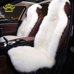 cubierta de asiento de piel de oveja de lujo cubiertas de coche universal interior otoño invierno de los asientos de felpa hijos enviar regalos cojín suave