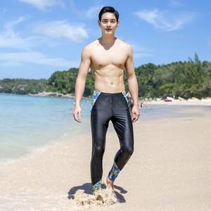 Haiyunxing calientes traje de baño del traje de baño de los hombres de natación buceo buceo cálida troncos de los pantalones de los trajes de baño trajes de baño de gran tamaño protector solar a largo