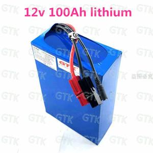 bateria de lítio GTK 12V 100Ah com BMS alta qualidade bateria para Motor Solar Energy Yacht Golf Car + 5A carregador