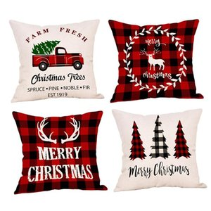 Throw Pillow Natal Desenhos animados Pillow Covers Praça Sofá decorativa Pillow Encostos Capa de Almofada Xmas pillowslip Home Decor EWC1164