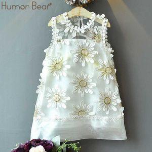 Humor Bear Children Baby Girl Dresses Kids Girl Floral Printed Korean Beach Holiday Princess Dress Summer Toddler Clothes