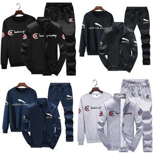 Vestes Champions Hommes Polaires Automne Vêtements + Sweats à capuche + Pantalons 3 Piece Set Tenues Réchauffez épais Survêtement Jogger Costume Hiver Taille Plus M-4XL