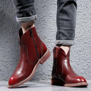Couro de alta qualidade Mens Botas New inverno impermeável alta Botas Bota Masculina Mens Motos Botas Hombre Sapatos comprar sapatos online Su kzTj #