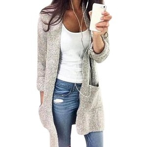 NIBESSER Autumn Sweater Women Winter Casual Knitted Long Cardigan Coat Fashion Solid Pockets Loose Oversized Sweater Female 5XL
