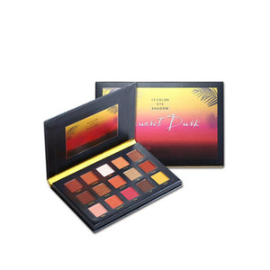 Professional 15 Colors Beauty Glazed Sunset Eyeshadow Eye Shadow Palette Makeup Sequins Shiny Powder Highlight Glitter