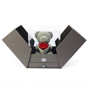 الدب هدية عيد المجوهرات مربع هدية مربع الموسيقى Tiktok نفس الموسيقى الدب الإبداعية الحب