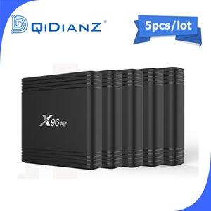 5 adet Smart TV BOX x96Air Android 9.0 8K Çift Wifi Medya oynatıcı Play Store Free App Hızlı Set üst X96 Hava PK HK1MAX H96