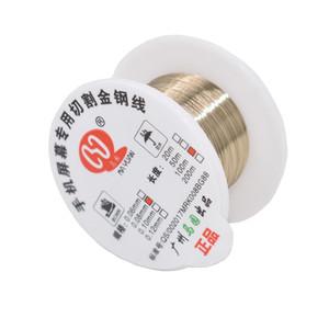 Cgjxs100m / 롤 0 .06mm 0 .08mm 아이폰 유리 Wire 라인 LCD 디스플레이 화면 분리기 수리를 절단 0 .1mm 합금 철강 몰리브덴 와이어