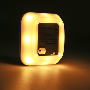 LED Wall USB Modern Sensor de Movimento Luz Interiores degrau Saving Energy Night Lamp luz quente