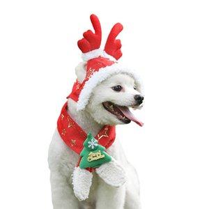 NICREW Katze Sankt-Hut Schal Set Weihnachtskostüm Weihnachtsgeschenk Mini Hundewelpen-Katze