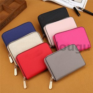 Hot 7 colors lady small wallets fashion women casual wallet famous single zipper ladies wallets female pu leather purse