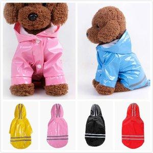 5 Цвет домашних собак PU Отражение Плащи с Hat Водонепроницаемые Одежда для маленьких собак чихуахуа Йорки Собака дождя пальто Пончо щенок дождевик