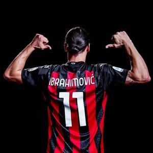 # 11 Ibrahimovic Soccer Jerseys 2020/2021 Home # 10 Calhanoglu # 13 Camicie da calcio romagnoli Uniformi da calcio da uomo personalizzati