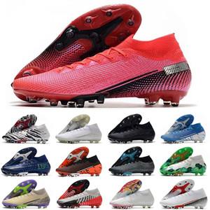 2020 hommes AG chaussures de football Superfly 7 Elite SE crampons de football à la cheville de bottes CR7 de football Mercurial 13 neymar