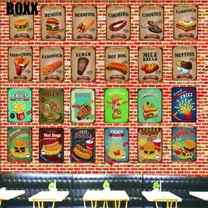 Tin Signs Metal Plate Wall Pub Kitchen Restaurant Home Art Decor Vintage Poster Cuadros Retro Poster